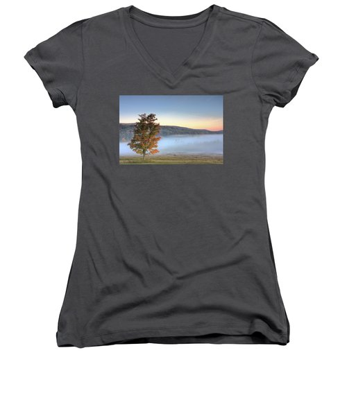 Autumn In Canaan Valley Wv  Women's V-Neck (Athletic Fit)