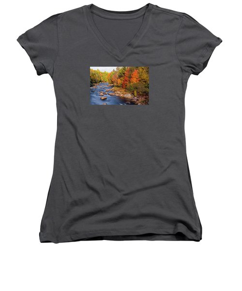 Autumn In New Hampshire Women's V-Neck (Athletic Fit)