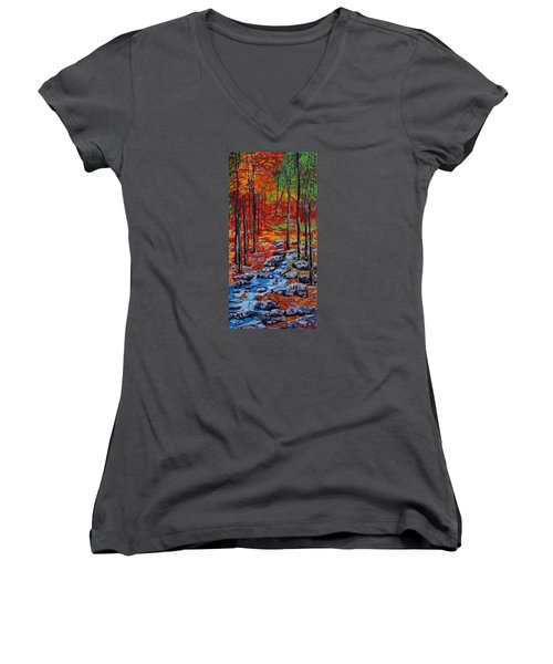 Autumn In The Air 2 Women's V-Neck T-Shirt