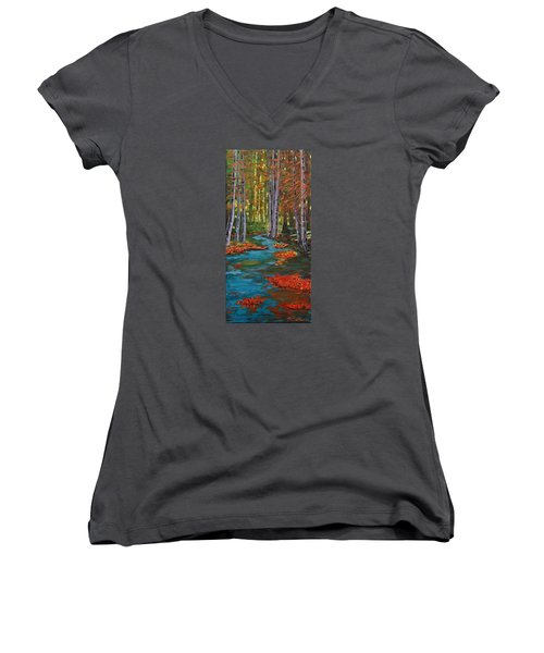 Autumn In The Air Women's V-Neck T-Shirt