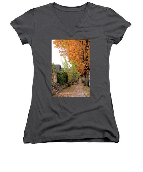 Autumn In The City Women's V-Neck