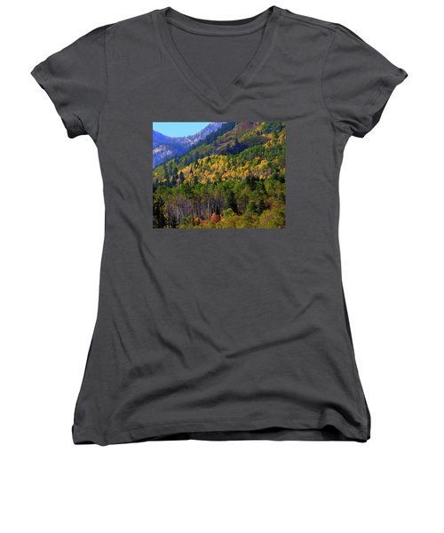 Autumn In Utah Women's V-Neck