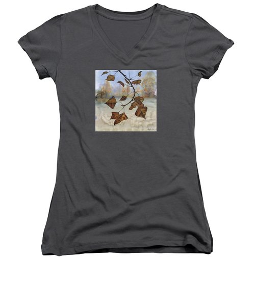 Autumn Leaves Women's V-Neck T-Shirt