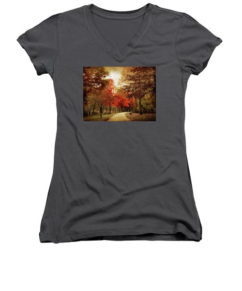 Autumn Maples Women's V-Neck