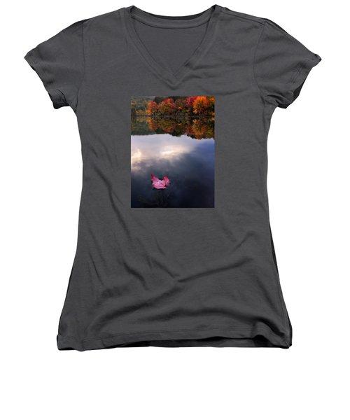 Autumn Mornings Iv Women's V-Neck T-Shirt