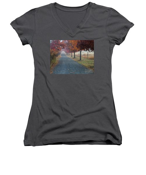 Autumn Portal Women's V-Neck (Athletic Fit)
