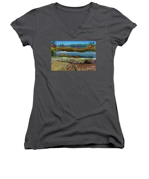 Autumn Rain 2 Women's V-Neck