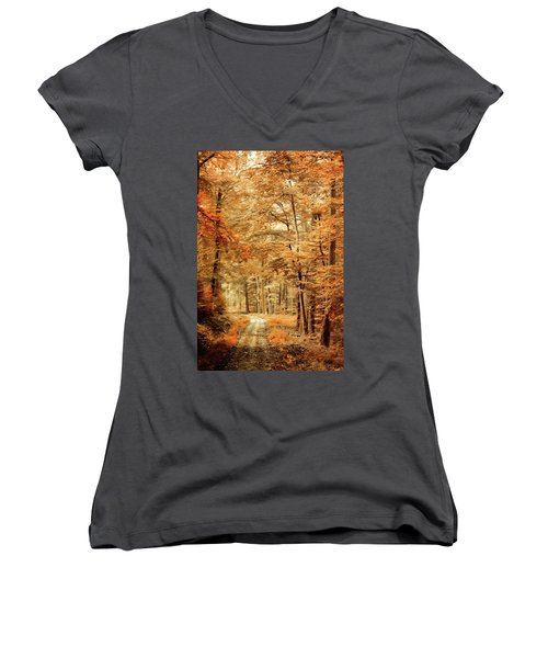 Autumn Secret Women's V-Neck T-Shirt