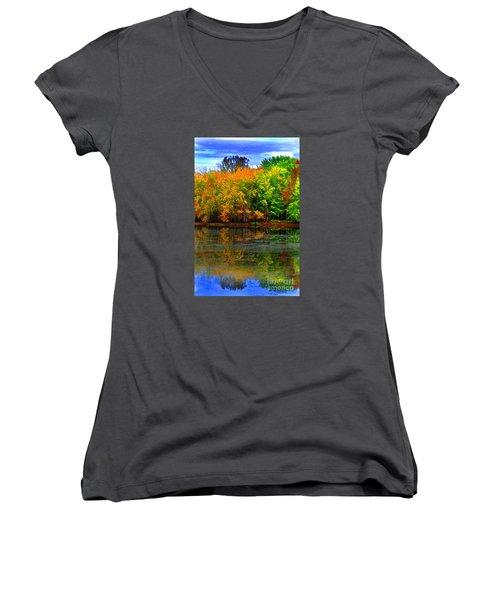 Autumn Sings Women's V-Neck T-Shirt