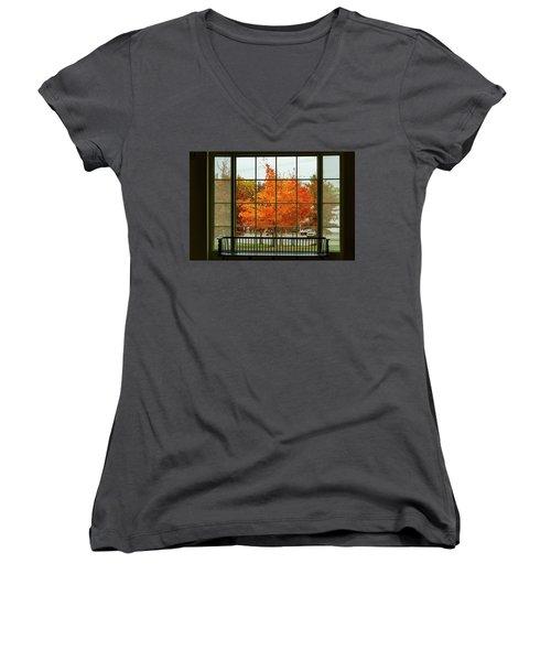 Autumn Splendor Women's V-Neck T-Shirt