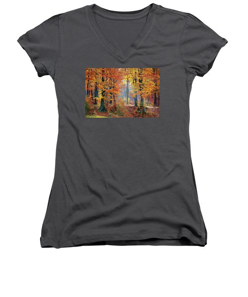 Autumn Splendour Women's V-Neck