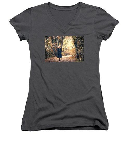 Autumn Women's V-Neck T-Shirt