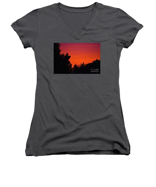 Autumn Sunrise Women's V-Neck (Athletic Fit)