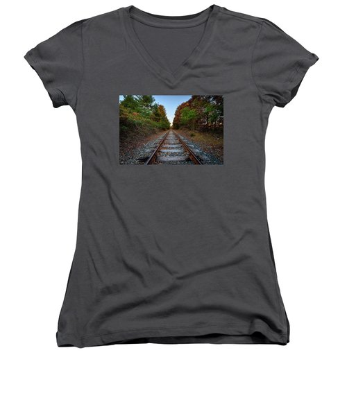 Autumn Train Women's V-Neck