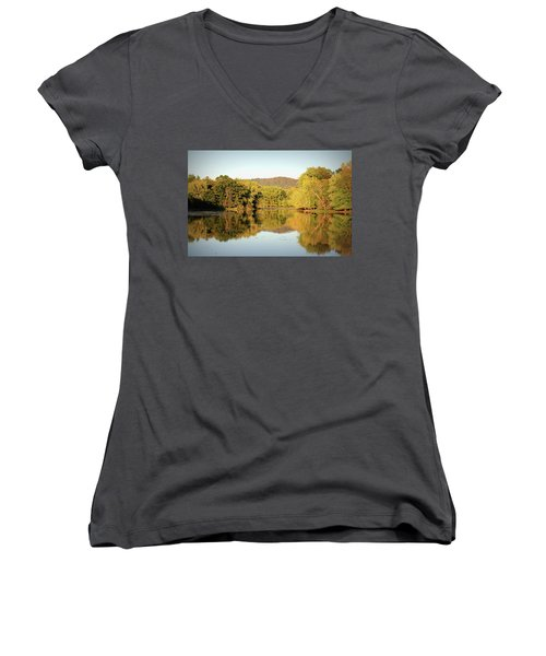 Autumn Water Women's V-Neck (Athletic Fit)