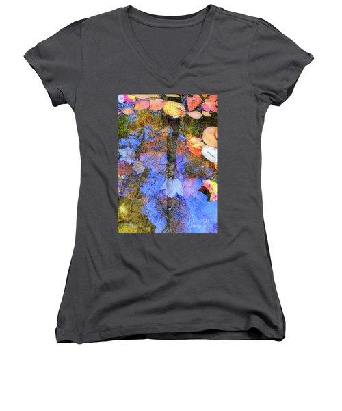 Autumn Watermark Women's V-Neck T-Shirt