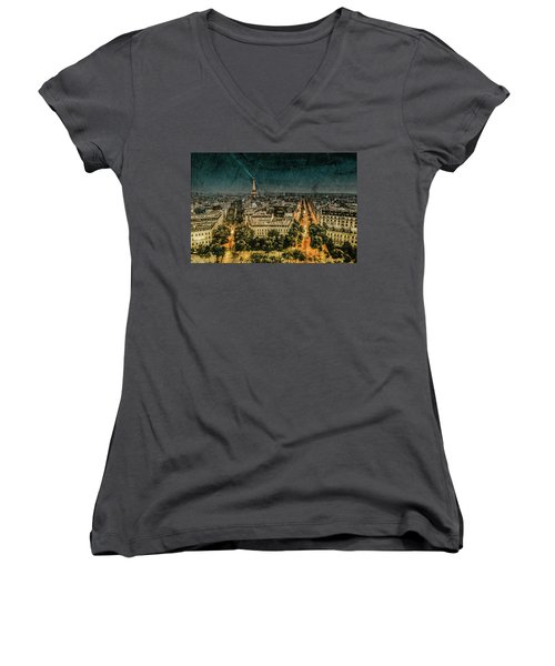 Paris, France - Avenue Kleber Women's V-Neck