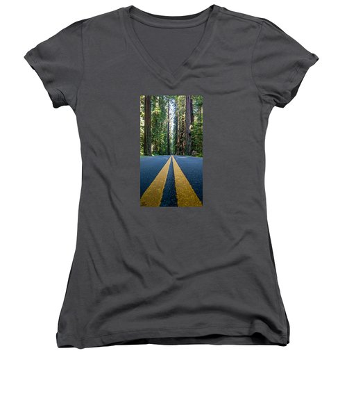 Avenue Of The Giants Women's V-Neck T-Shirt