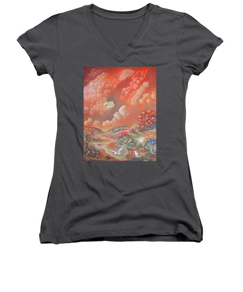 Avian Landscape Women's V-Neck T-Shirt
