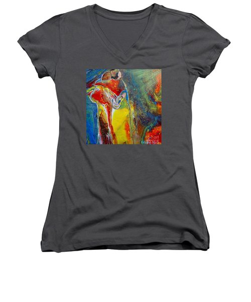 Awesome God Women's V-Neck (Athletic Fit)