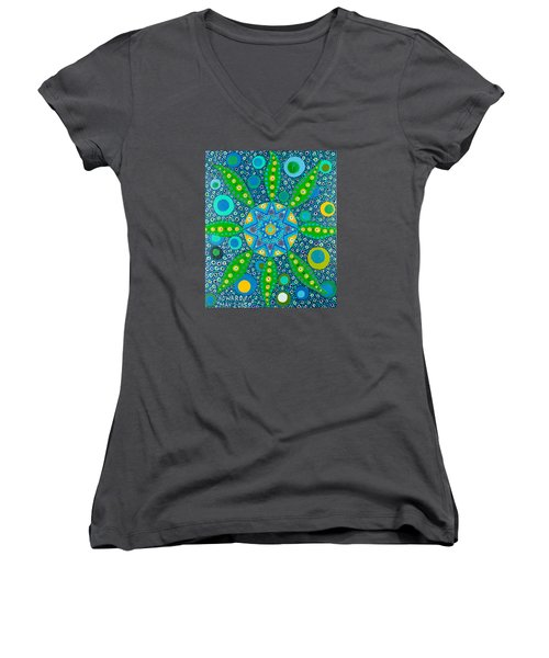 Ayahuasca Vision - Inside The Plant Cell  May 2015 Women's V-Neck (Athletic Fit)