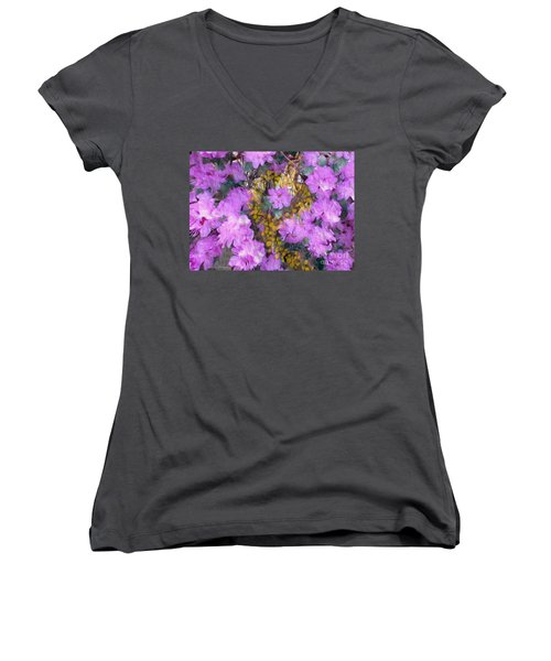 Azaleas Women's V-Neck (Athletic Fit)