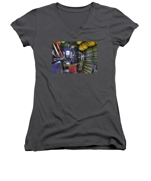 B-24 Women's V-Neck T-Shirt (Junior Cut) by Joe  Palermo