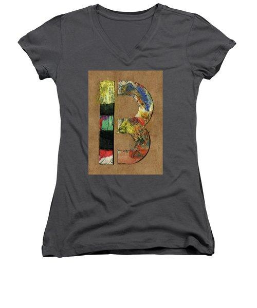 The Letter B Women's V-Neck T-Shirt