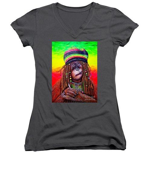 B.#2 Women's V-Neck T-Shirt