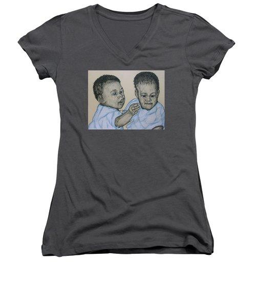 Babies Women's V-Neck T-Shirt