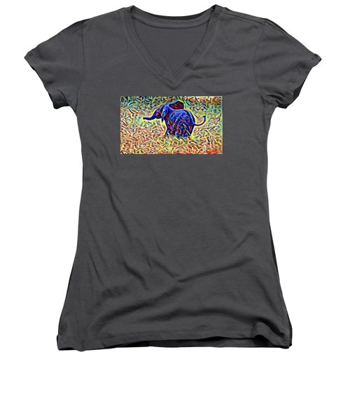 Baby Elephant  Women's V-Neck (Athletic Fit)