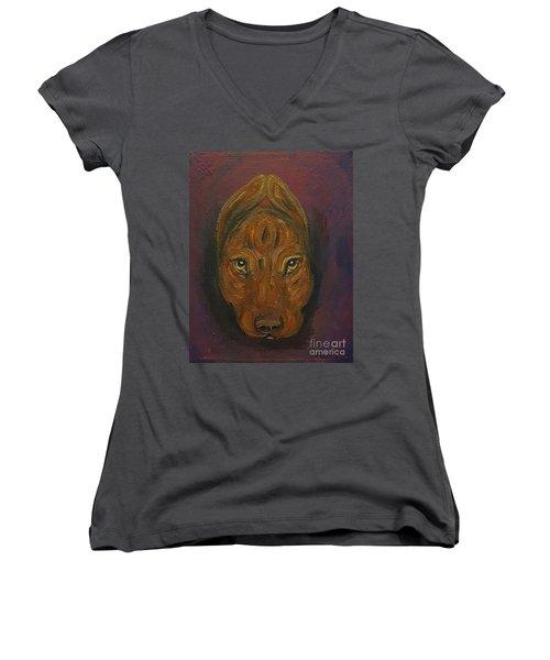 Baby Niko Pitty Women's V-Neck T-Shirt