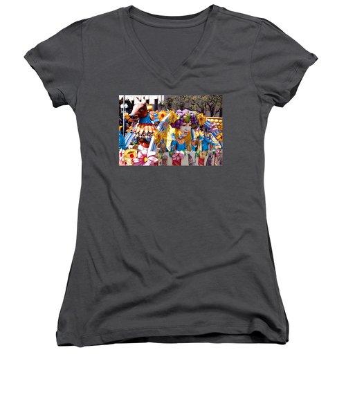 Bacchus Mardis Gras Float Women's V-Neck T-Shirt