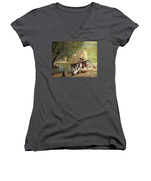 Back Country Camp Out Women's V-Neck