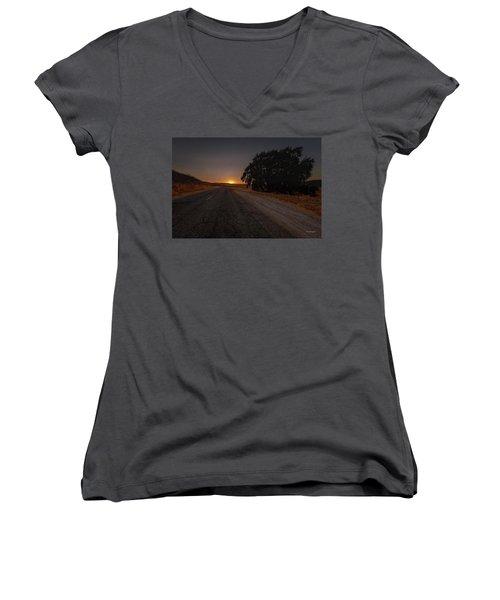 Back Road From Bradley Women's V-Neck T-Shirt