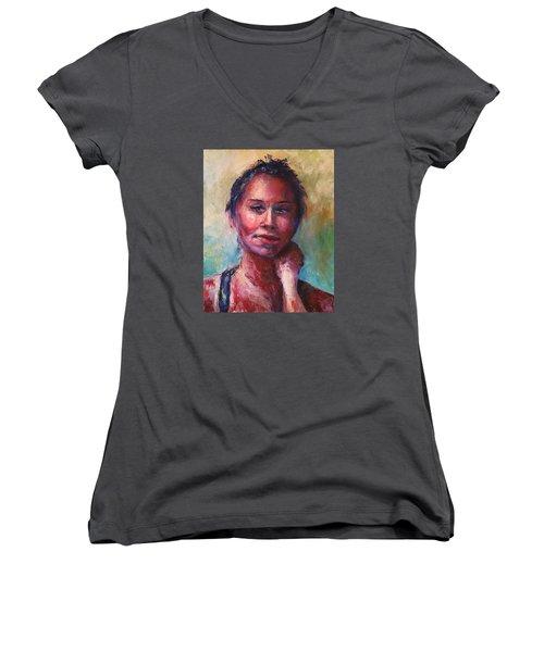 Back To The Garden Women's V-Neck T-Shirt