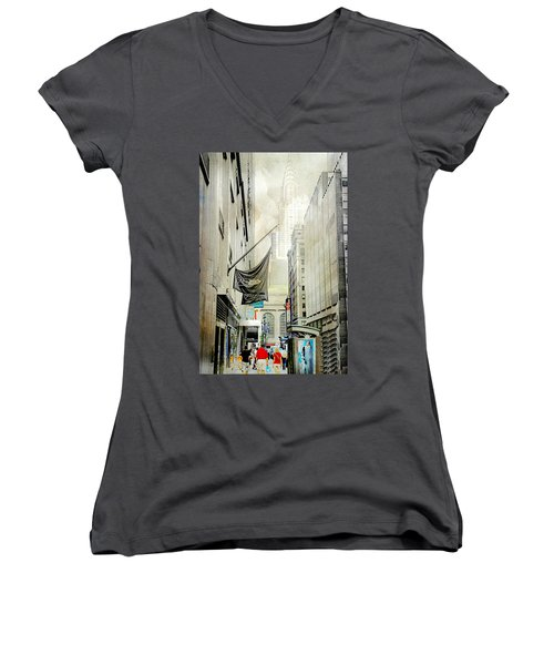 Women's V-Neck T-Shirt (Junior Cut) featuring the photograph Back To You by Diana Angstadt