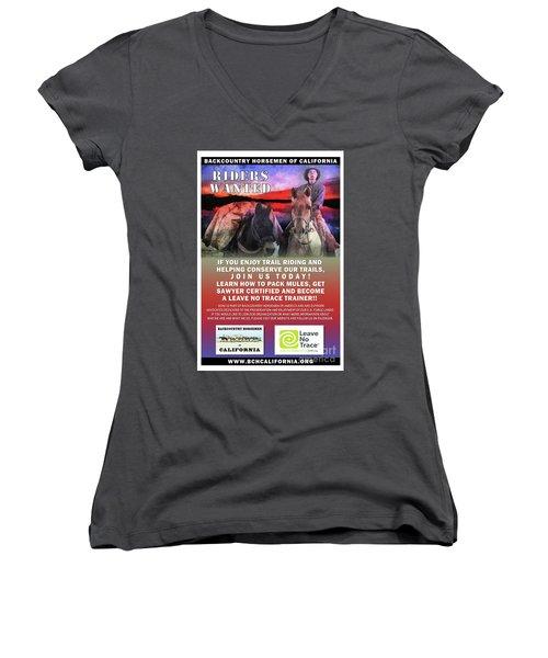 Backcountry Horsemen Join Us Poster II Women's V-Neck (Athletic Fit)