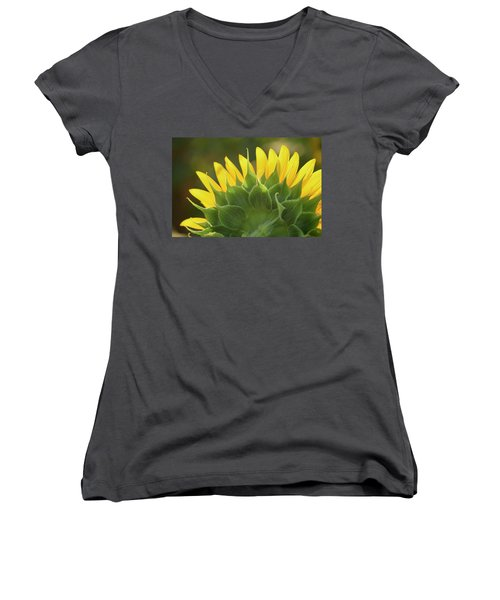 Backlit Beauty Women's V-Neck T-Shirt (Junior Cut) by Phyllis Peterson