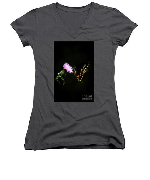 Backroad Butterfly Women's V-Neck