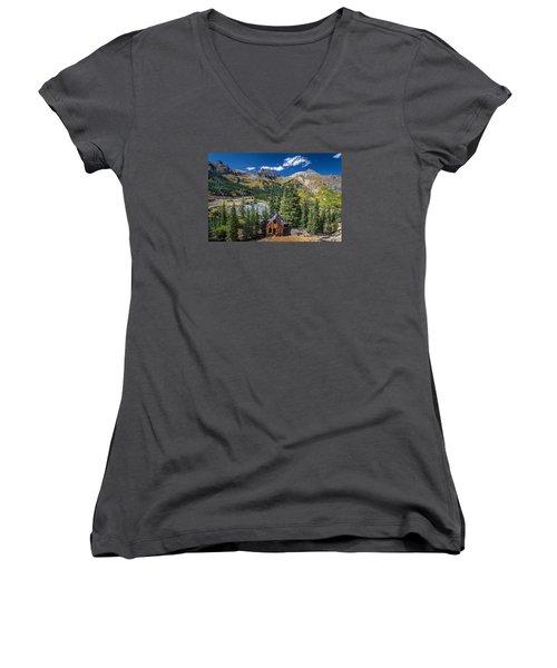 Backroads In San Juan Mountains Women's V-Neck T-Shirt (Junior Cut) by Michael J Bauer