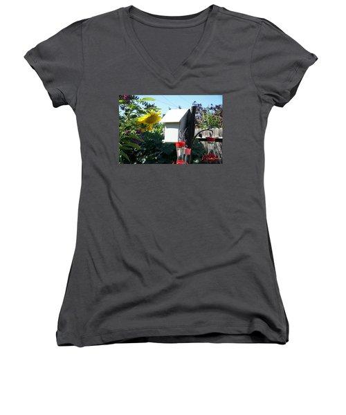 Backyard Garden Women's V-Neck (Athletic Fit)
