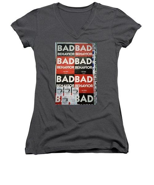 Bad Behavior Women's V-Neck