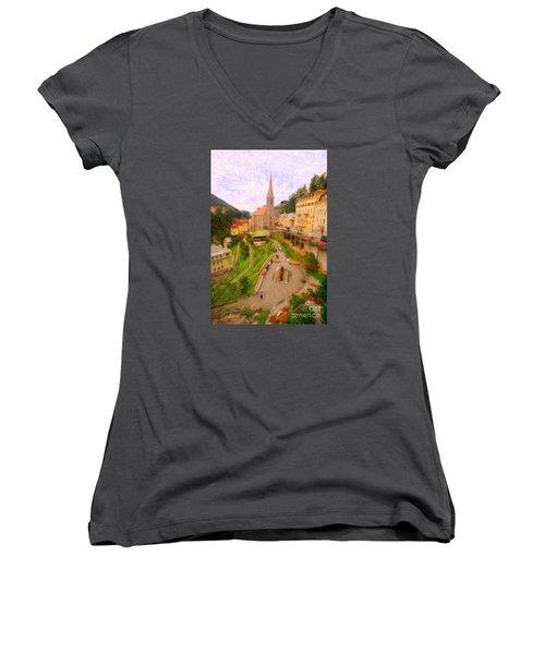 Badhofgastein Women's V-Neck T-Shirt (Junior Cut)