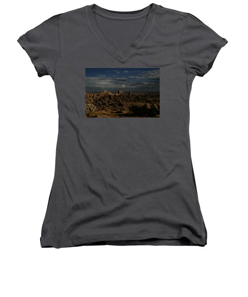 Badlands National Park Women's V-Neck (Athletic Fit)