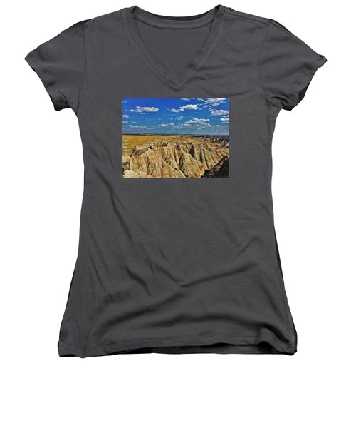Badlands To Plains Women's V-Neck