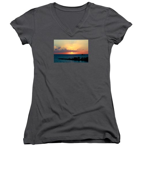Bahamas Sunset Women's V-Neck