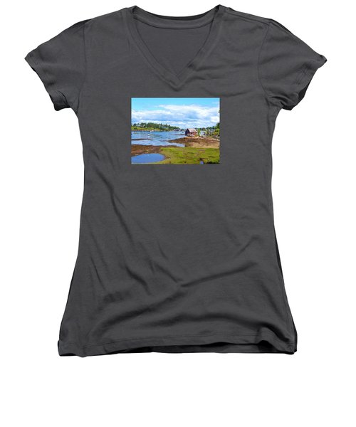 Bailey Island Lobster Shack Women's V-Neck (Athletic Fit)