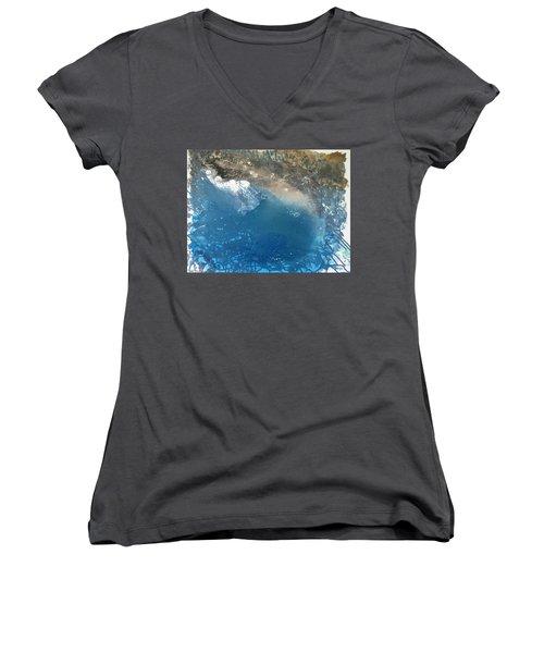 Bajamar Women's V-Neck T-Shirt (Junior Cut) by Antonio Romero