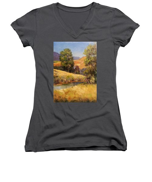 Bakesfield Creek Afternoon Women's V-Neck (Athletic Fit)